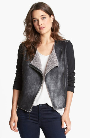 Ella Moss Faux Sherling Jacket (M)