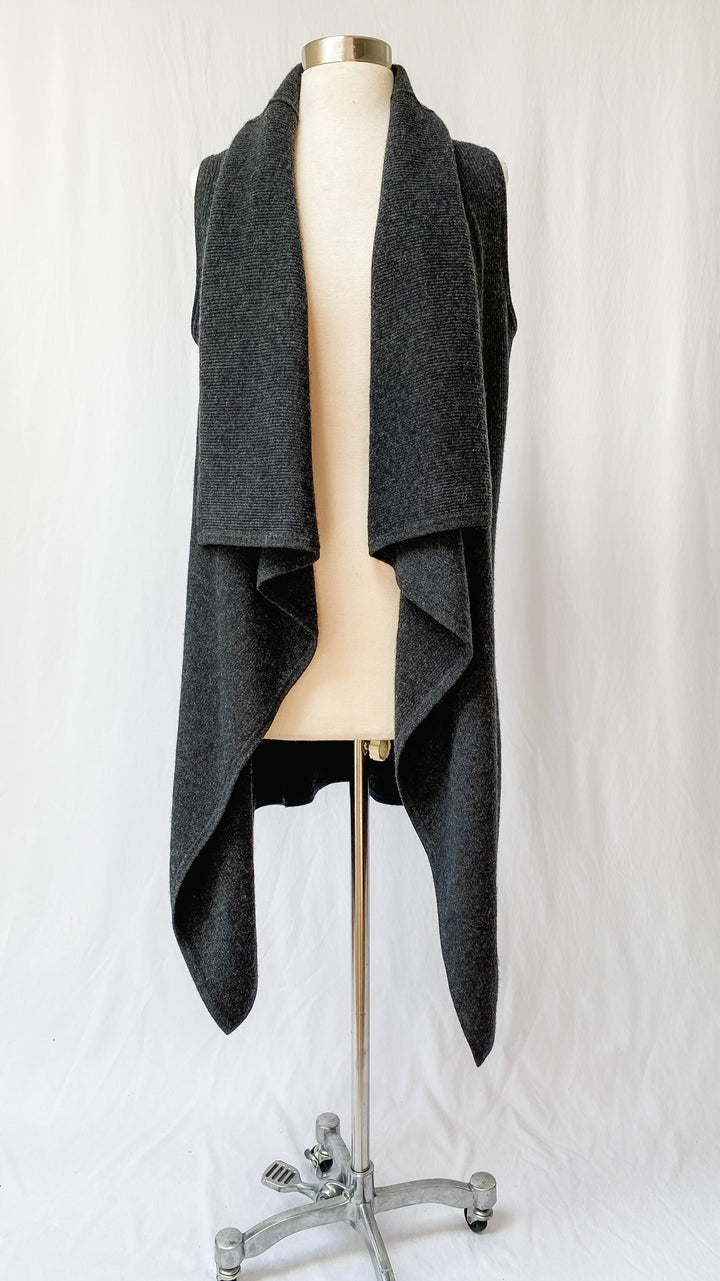 TSE x Saks Fifth Ave. Cashmere Sleeveless Draped Cardigan (M)