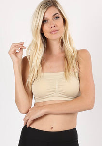 Taupe Strapless Bralette (up to 3X)