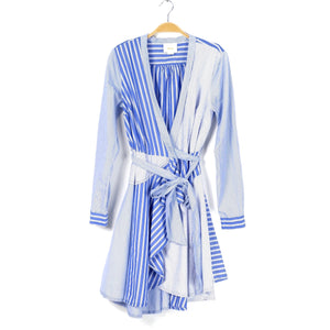 Anthropologie Maeve Stripe Wrap Shirtdress (6)