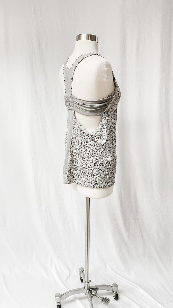 Lululemon Gray Floral Turbo Tank Top (10)
