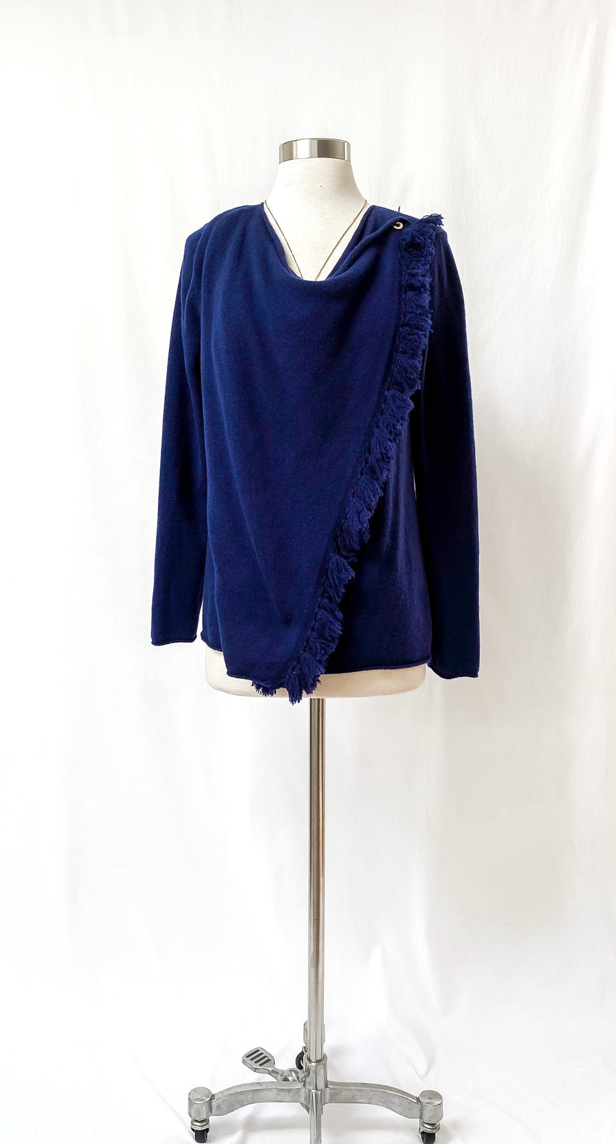 Lilly Pulitzer Navy Avenue Wrap Cashmere Cardigan (M)