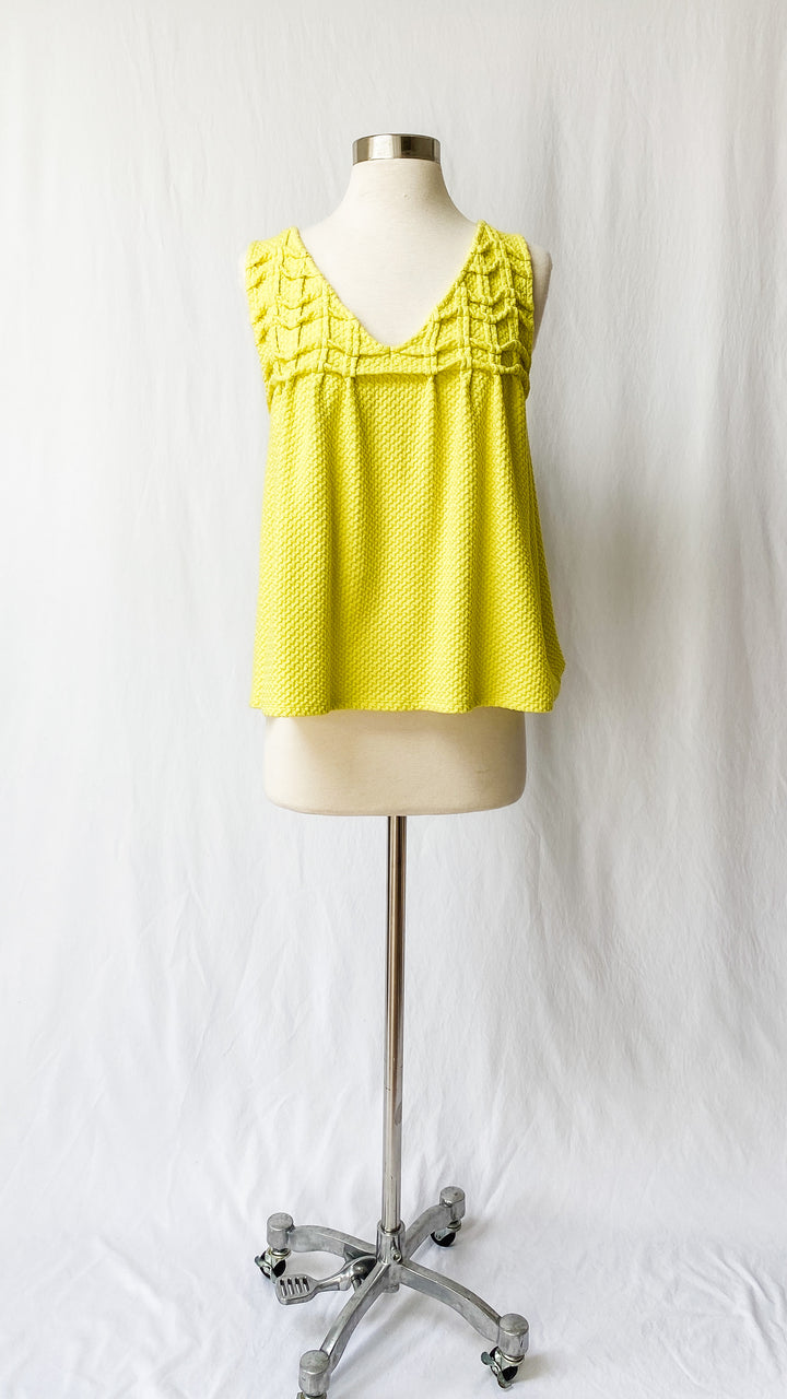 Anthropologie Deletta Bright Yellow Swing Top (M)