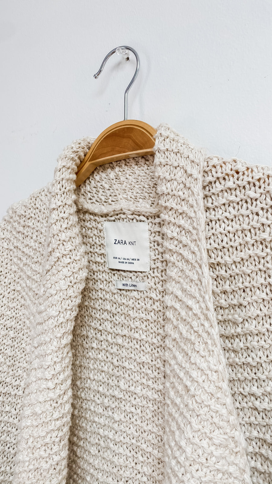 Zara Cotton & Linen Oversized Cardigan (M/L/XL)