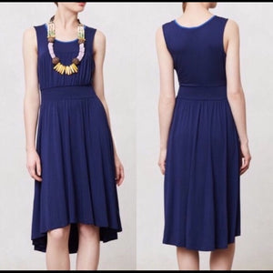 Anthropologie Blue Jersey Anabell Dress (XS)