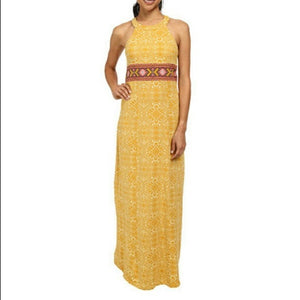 Prana Skye Maxi Dress in Yellow (M)