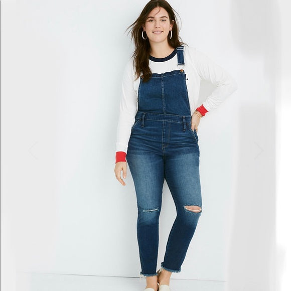 Madewell Roadtripper Overalls in Brodie Wash (2X)