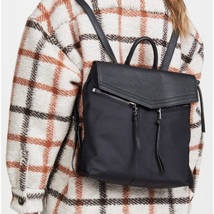 Botkier Trigger Nylon + Leather Mini Backpack