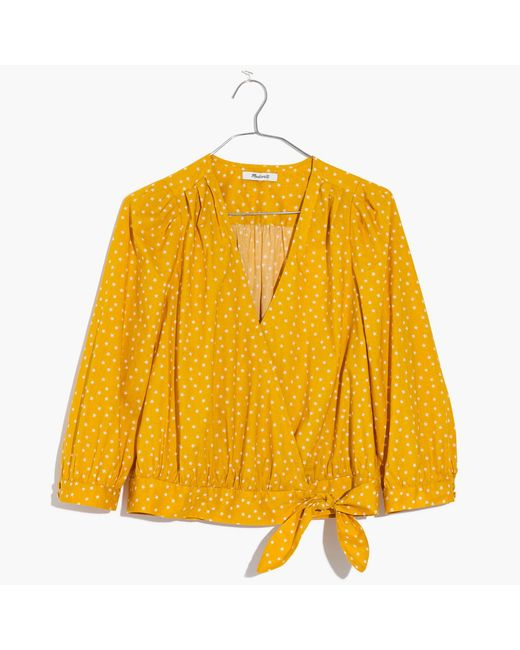 Madewell Star Scatter Wrap Top (L)