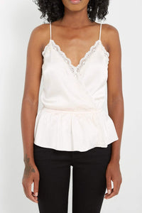 Blush Satin & Lace Camisole