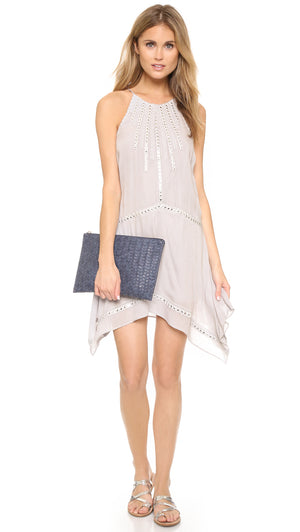 Ramy Brook White & Silver Handkerchief Dress (2)