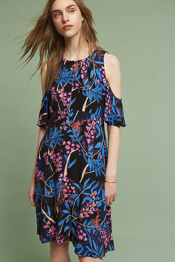 Anthropologie Elia Blue Floral Dress (4)