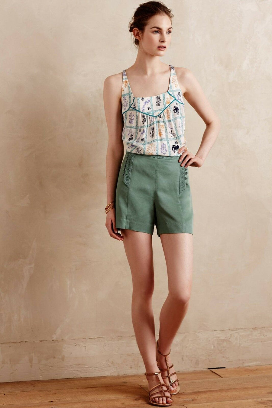 Anthropologie Elephant Sleeveless Top (S)