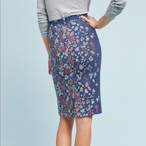 Anthropologie Maeve Knit Floral Pencil Skirt (Small)