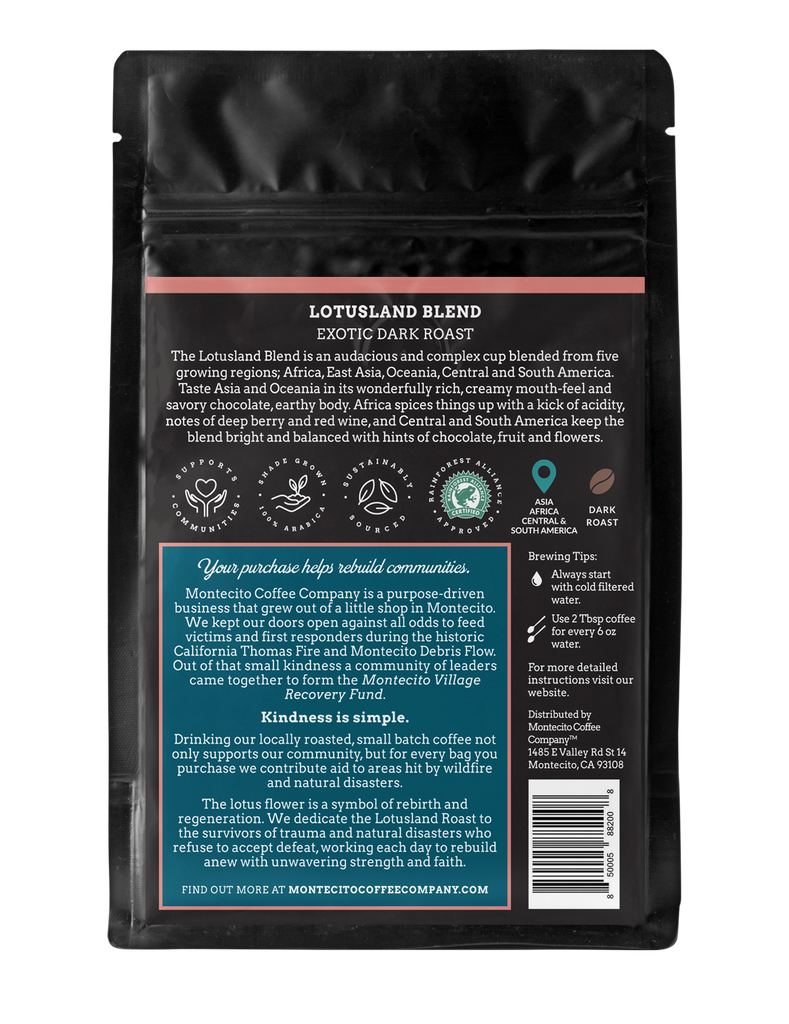 LOTUSLAND BLEND Exotic Dark Roast Coffee