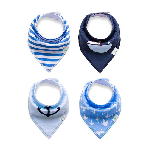 Soft Bandana Drool Bibs in Blue