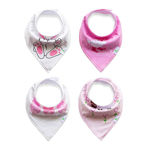 Soft Bandana Drool Bibs in Pink