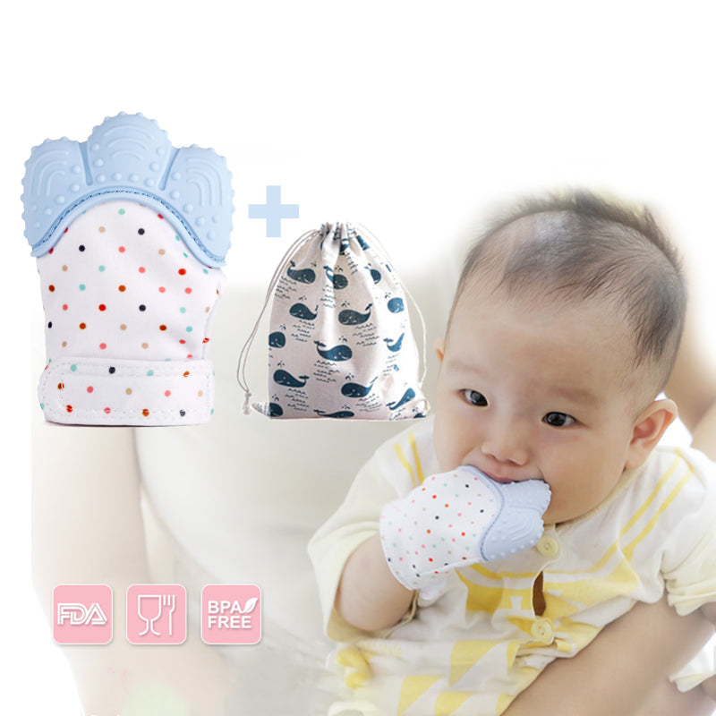 Silicone Teether Baby Pacifier Glove BPA Free!