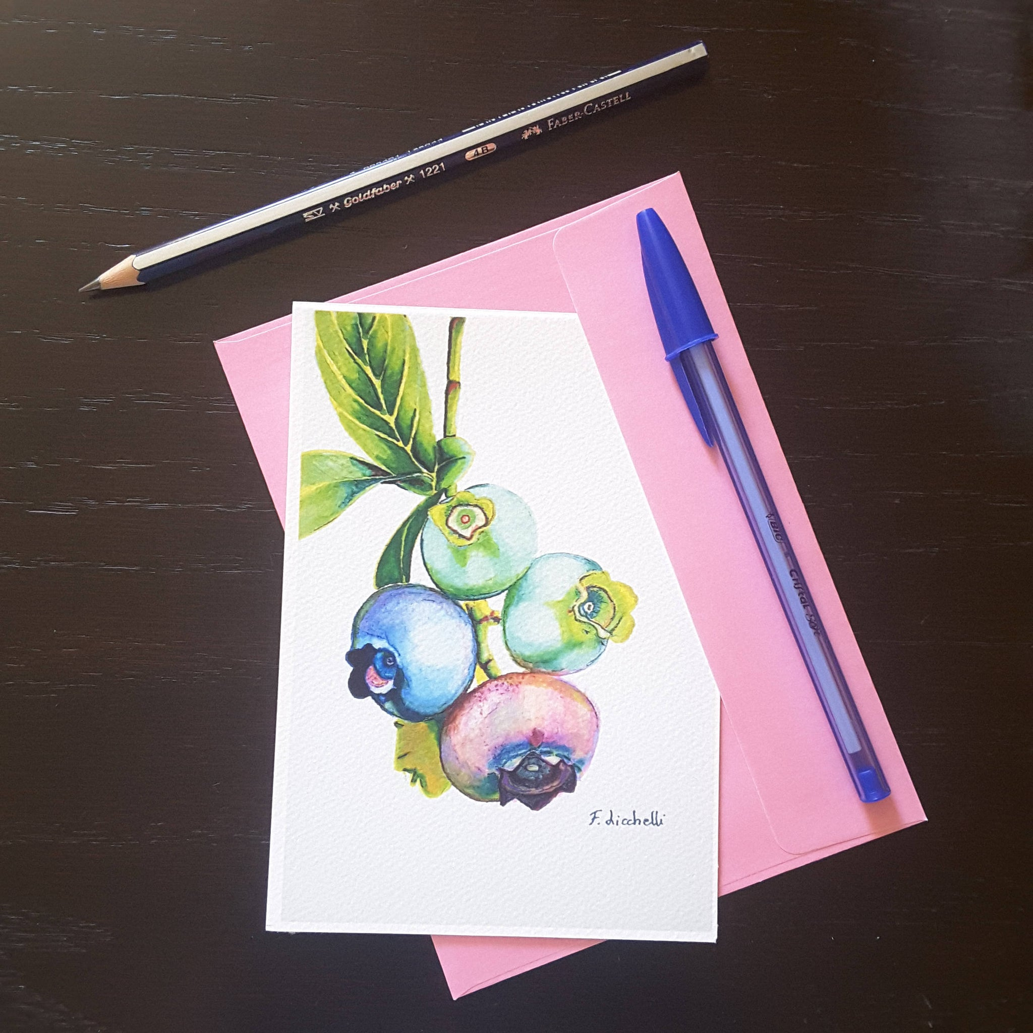 Greetings Cards Fruits Watercolors Still Life Gicle Fine Art Prin