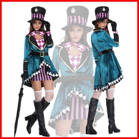 Alice In Wonderland Alice Dress Suit Magician Cosplay - SpiritCos