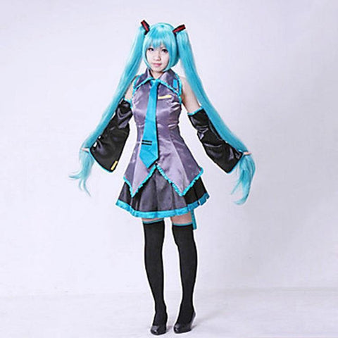 Vocaloid Miku Maid Dress Costume Girls Anime Halloween Cosplay - SpiritCos
