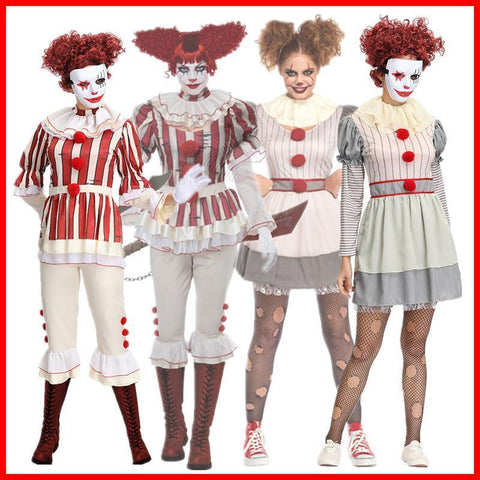 Stephen Kings It Women Joker Costume Pennywise Costume Halloween Cosplay Costumes Outfit Suit - SpiritCos
