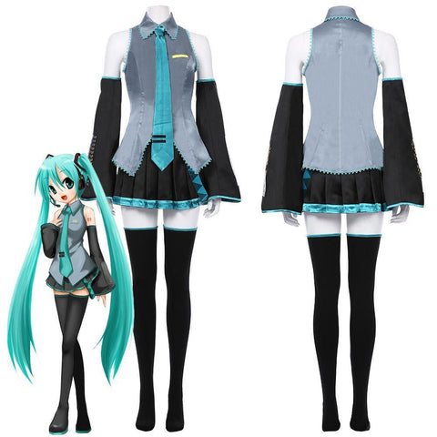 Vocaloid Hatsune Miku Dress Outfits Halloween Carnival Suit Cosplay Costume - SpiritCos