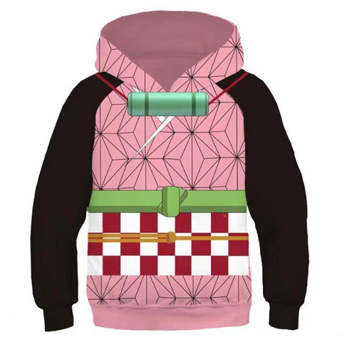 Kids Demon Slayer: Kimetsu No Yaiba Hoodie Kamado Nezuko Cosplay Hooded Pullover Sweatshirt Cosplay Costume - SpiritCos
