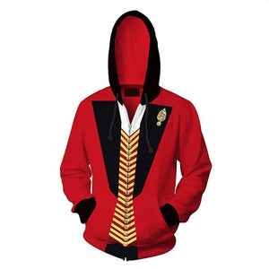 Unisex P.T. Barnum Hoodies The Greatest Showman Zip Up 3D Print Jacket Sweatshirt - SpiritCos