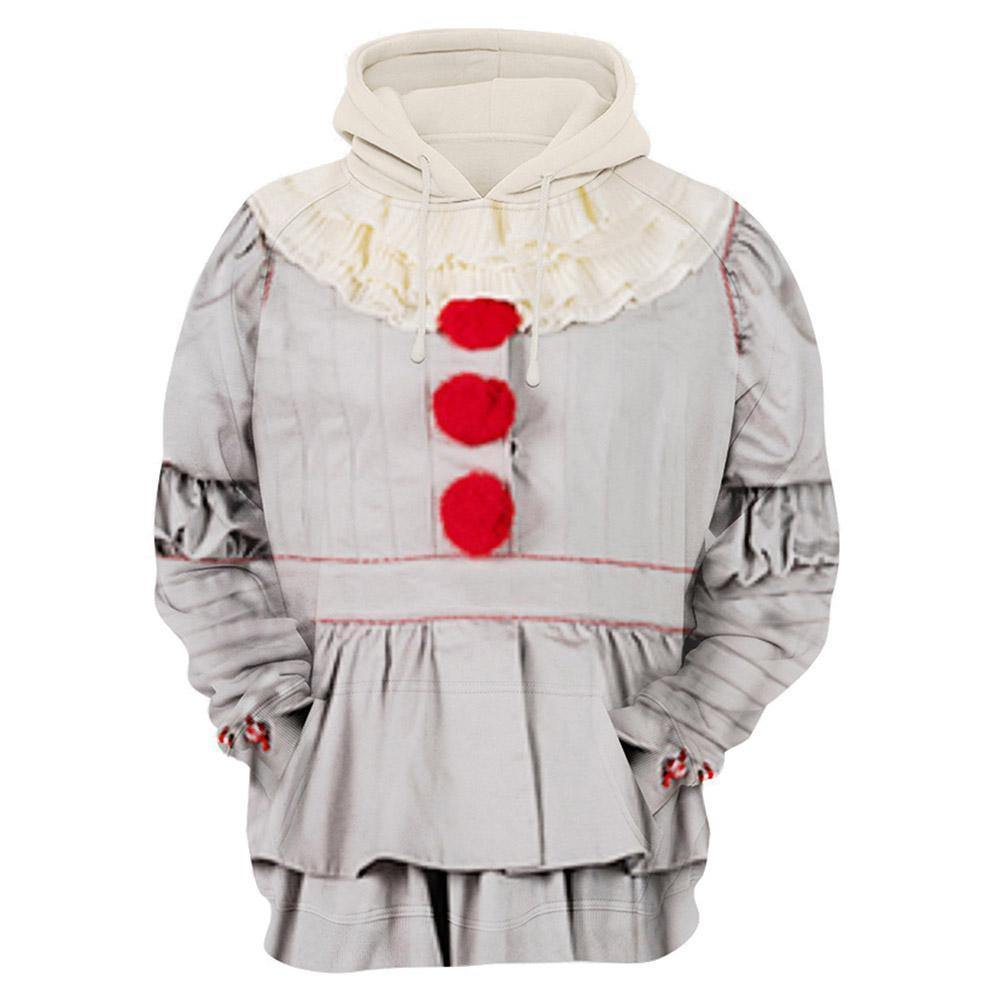 Unisex Pennywise Hoodies Stephen King'S It: Chapter Two Pullover 3D Print Jacket Sweatshirt - SpiritCos
