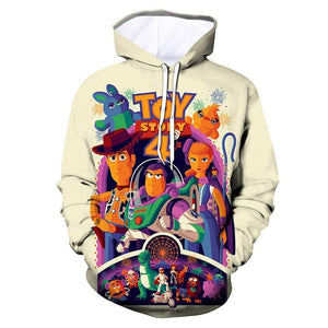 Unisex Toy Story 4 Hoodies All Role Printed Pullover Jacket Sweatshirt - SpiritCos