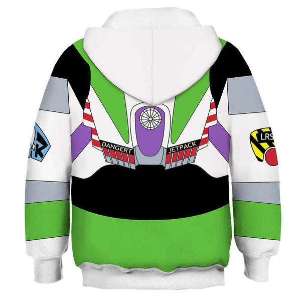 Kids Buzz Lightyear Hoodies Toy Story Pullover 3D Print Jacket Sweatshirt - SpiritCos