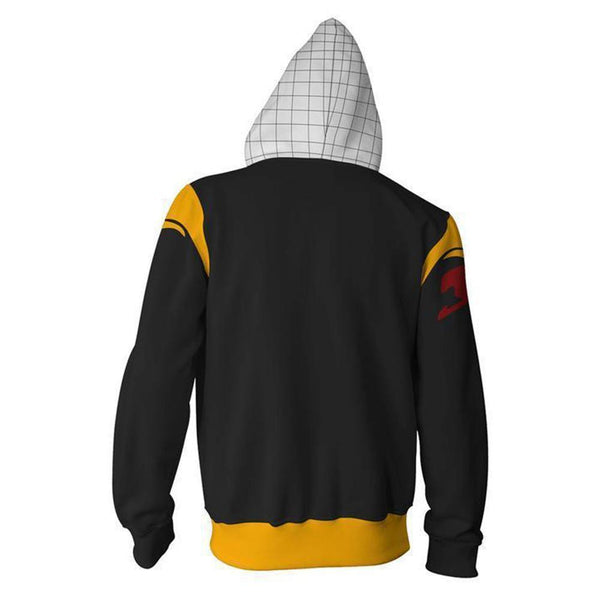 Unisex Hoodie Fairy Tail Etherious Natsu Dragneel Zip-Up Hooded Sweatshirt Unisex - SpiritCos