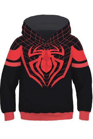 Little Boys Hoodie Spider-Man: Into The Spider-Verse Miles Morales 3D Pullover Sweatshirt Kids - SpiritCos