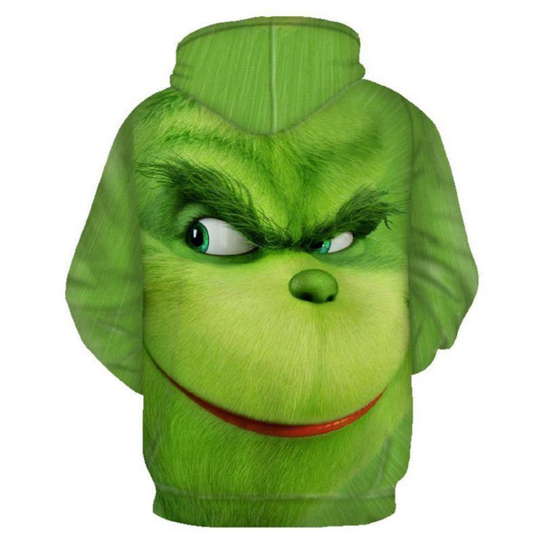 Men/Women How The Grinch Stole Christmas 3D Printing Hooded Zip Up Hoodies Sweatshirt - SpiritCos