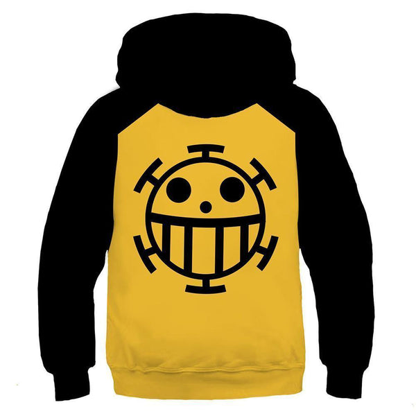 Kids One Piece Hoodie Trafalgar Law Cosplay Hooded Pullover Sweatshirt Cosplay Costume - SpiritCos