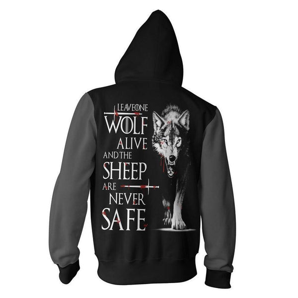 Unisex Game Of Thrones Hoodies Cool Aesthetic Zip Up 3D Print Jacket Sweatshirt - SpiritCos