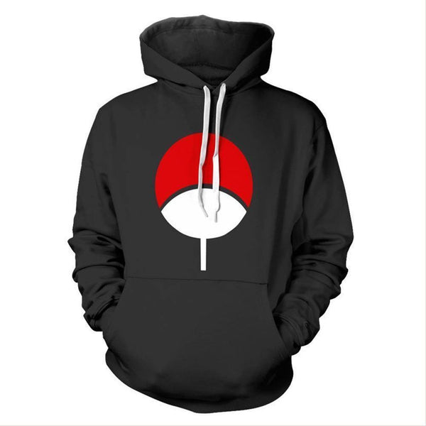 Adult Naruto Uchiha Hoodie Halloween Cosplay Costume Hooded Sweatshirts - SpiritCos