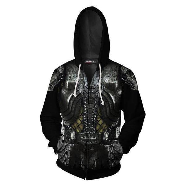 Adult Predator Hoodie Halloween Cosplay Costume Hooded Sweatshirts - SpiritCos