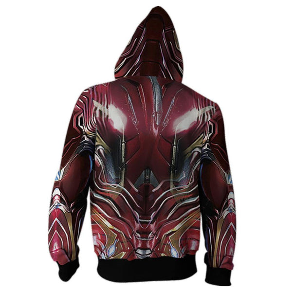 Men Avengers Endgame Tony Stark Iron Man Cotton Jacket Hoodie - SpiritCos