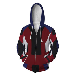 Unisex Evie Hoodies Descendants 3 Zip Up 3D Print Jacket Sweatshirt - SpiritCos