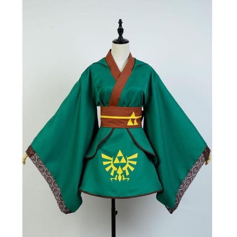 The Legend Of Zelda Skyward Sword Female Link Cosplay Suit Outfit Dress Costume - SpiritCos