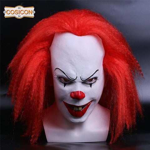 Stephen King'S Movie It  Pennywise  Red Hair Clown Cosplay Mask - SpiritCos