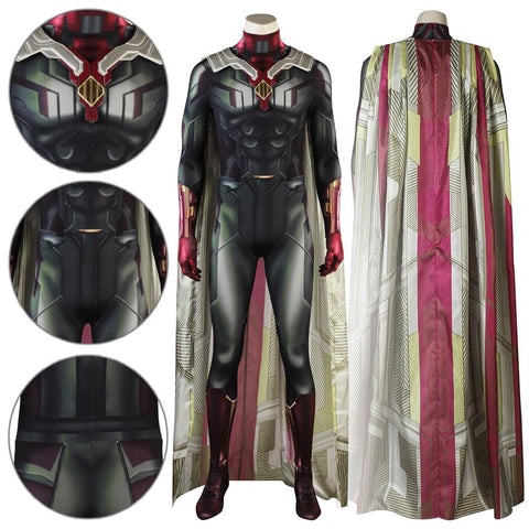 Vision Avengers 2 : Infinity War Jumpsuit Cosplay Costume - - SpiritCos