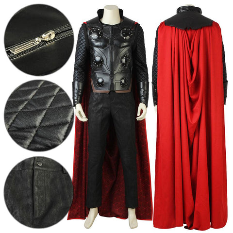 Thor Odinson Avengers 3: Infinity War Cosplay Costume - Only Red Cape - SpiritCos