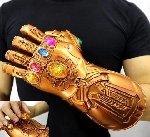 Avengers: Endgame Thanos Infinity Gauntlet Gloves Stone Movable Led Light Infinity War Glove Avengers Thanos Glove Hand Wear - SpiritCos