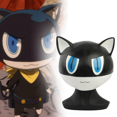 Persona 5 Morgana Mask Latex The Animal Black Cat Mona Halloween Cosplay Mask - SpiritCos