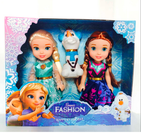 Frozen Princess Anna Elsa Dolls For Girls Toys Princess Anna Elsa Dolls Small Plastic Baby Dolls - SpiritCos