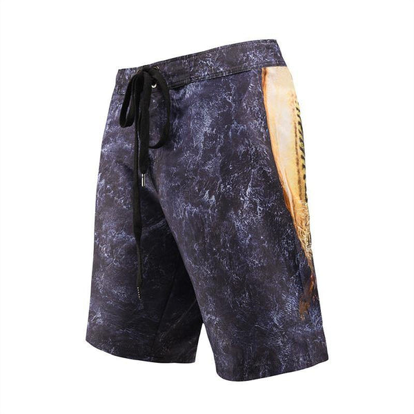 Men'S Beach Board Shorts Marble Texture Swimming Pants - SpiritCos