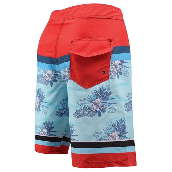 Men'S Beach Board Shorts Floral Pattern Swimming Pants - SpiritCos